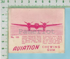 """Aviation Chewing Gum Series, C 1941 ( No.155 Bristol Bolingbroke  Bomber ) Bilingue Français & Anglais """"English"""" - 1939-45"""