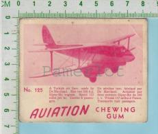 """Aviation Chewing Gum Series, C 1941 (No.125 De Haviland Turkish Air Line ) Bilingue Français & Anglais """"English"""" - 1939-45"""