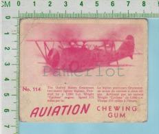"Aviation Chewing Gum Series, C 1941 (No.114 Gunman Two-seater Fighting ) Bilingue Français & Anglais ""English"" - 1939-45"