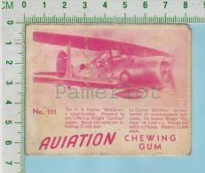 """Aviation Chewing Gum Series, C 1941 (No.111 Curtis Helldriver Scout-Bomber) Bilingue Français & Anglais """"English"""" - 1939-45"""