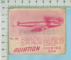 "Aviation Chewing Gum Series, C 1941 (No.108 British D-H Albatros Large Transport ) Bilingue Français & Anglais ""Engl - 1939-45"