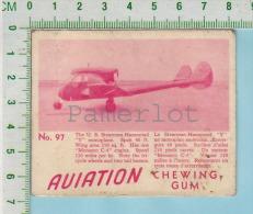 "Aviation Chewing Gum Series, C 1941 (No.97 Stearman-Hammond Y Monoplane) Bilingue Français & Anglais ""English"" - 1939-45"