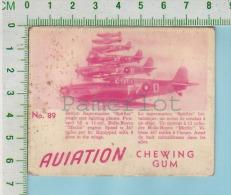 """Aviation Chewing Gum Series, C 1941 (No.89 British Supermarine Spitfire) Bilingue Français & Anglais """"English"""" - 1939-45"""