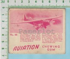 """Aviation Chewing Gum Series, C 1941 (No.88 Farman F.222 Grench Bomber) Bilingue Français & Anglais """"English"""" - 1939-45"""