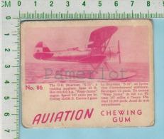 """Aviation Chewing Gum Series, C 1941 (No.86 US Stearman S-76 Training Plane ) Bilingue Français & Anglais """"English"""" - 1939-45"""