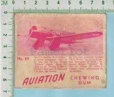 """Aviation Chewing Gum Series, C 1941 (No.85 US Curtis A-12 Shrike Attack Monoplan ) Bilingue Français & Anglais """"Engl - 1939-45"""
