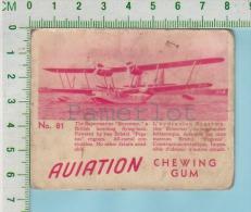 """Aviation Chewing Gum Series, C 1941 (No.81 Supermarine Stranraer Bombing ) Bilingue Français & Anglais """"English"""" - 1939-45"""