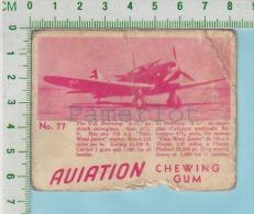 """Aviation Chewing Gum Series, C 1941 (No.77 US Northrop A-17 Attack Monoplane ) Bilingue Français & Anglais """"English"""" - 1939-45"""