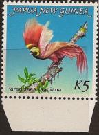 PNG 1982 5k Bird Of Paradise UNHM SG 452 QP108 - Papouasie-Nouvelle-Guinée