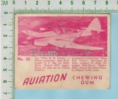 """Aviation Chewing Gum Series, C 1941 (No.70 Miles R. R. Trainer  ) Bilingue Français & Anglais """"English"""" - 1939-45"""