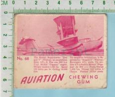 """Aviation Chewing Gum Series, C 1941 (No.68 Seagull V Walrus) Bilingue Français & Anglais """"English"""" - 1939-45"""