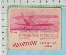 """Aviation Chewing Gum Series, C 1941 (No.66 Hawker Hart Day Bomber  ) Bilingue Français & Anglais """"English"""" - 1939-45"""