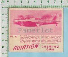 """Aviation Chewing Gum Series, C 1941 (No.47 US Northrop 8.A Long Range Bomber ) Bilingue Français & Anglais """"English"""" - 1939-45"""