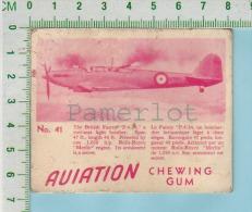 """Aviation Chewing Gum Series, C 1941 (No.41 British Fairey P.4/34 Light Bomber ) Bilingue Français & Anglais """"English - 1939-45"""