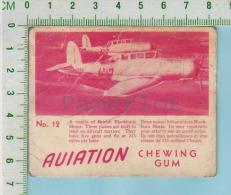 """Aviation Chewing Gum Series, C 1941 (No.12 British Blackburn Skuas ) Bilingue Français & Anglais """"English"""" - 1939-45"""