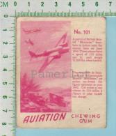 """Aviation Chewing Gum Series, C 1941 (No.101 Patrol Bristol Blenheim Bomber ) Bilingue Français & Anglais """"English"""" - 1939-45"""