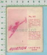"""Aviation Chewing Gum Series, C 1941 (No.107 British Hereford 1 Bomber) Bilingue Français & Anglais """"English"""" - 1939-45"""