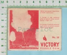 """Victory Bubble Gum Series, C 1941 (No.52 Un Barrage D'explosif ) Bilingue Français & Anglais """"English"""" - 1939-45"""