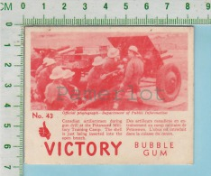 """Victory Bubble Gum Series, C 1941 (No.43 Artilleurs Canadien En Entrainement ) Bilingue Français & Anglais """"English"""" - 1939-45"""
