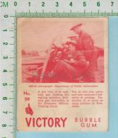 """Victory Bubble Gum Series, C 1941 (No.29 Vue De Coté D'un Canon Anti-tank ) Bilingue Français & Anglais """"English"""" - 1939-45"""