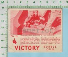 Victory Bubble Gum Series, C 1941 (No.15 Artillerie Royale Canadienne ) Bilingue Français & Anglais - 1939-45