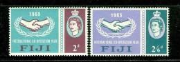 Fiji      Intl. Co-operation Year   Set    SC# 213-14 Mint - Fidji (1970-...)