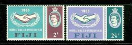 Fiji      Intl. Co-operation Year   Set    SC# 213-14 Mint - Fiji (1970-...)