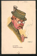 CPA Illustrateur Hansi: Le Touriste - Illustrateurs & Photographes