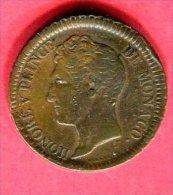 MONACO HONORE V UN DECIME 1838 TB/TTB 32 - 1819-1922 Onorato V, Carlo III, Alberto I