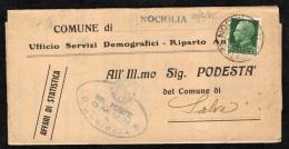 ITALIA - STORIA POSTALE - 1935 -  REGIE POSTE DEL COMUNE DI NOCIGLIA - LECCE - 18-3-35 - Storia Postale