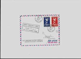 AEROGRAMMEPARIS – Bureau N°74  « E. BAYEN (17°) » LSI – Tarif PA « POLYNESIE Fse » à - Poste Aérienne