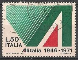 ITALIA REPUBBLICA  ALITALIA 50 LIRE 1971 USATO - 6. 1946-.. Repubblica