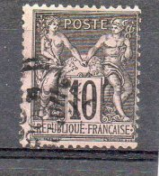FRANCE    10 C     Année 1876-78     Y&T: 65   Type Sage     (oblitéré) - 1876-1878 Sage (Type I)