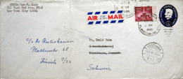 United States 1964 Letter To Denmark. Unknown At The Address Sent To Switzerland. ( Lot 2569 ) - Verenigde Staten