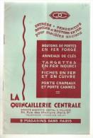 Catalogue En 8 Pages QUINCAILLERIE CENTRALE 34 Rue Des Martyrs Paris - France
