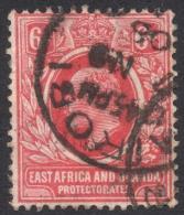East Africa And Uganda, 6 C. 1907, Sc # 33, Mi # 35I, Used (3) - Kenya, Uganda & Tanganyika