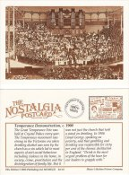 Postcard CRYSTAL PALACE Great Temperance Fete Victorian Nostalgia C1900 Alcohol Repro - Demonstrations