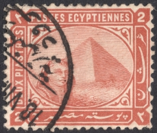 Egypt, 2 Pi. 1879, Sc # 39, Mi # 27a, Used (2) - Egitto