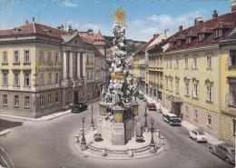 BADEN CITY:MAIN SQUARE,HOLY TRINITY COLUMN,(1714-1718),POSTCARD,USED,WIEN,VIENNA - Baden Bei Wien