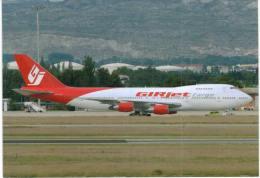 Thème -  Avion - OKC A1123 - Girjet Cargo - B 747 21 AC - Madrid 2007 - 1946-....: Moderne