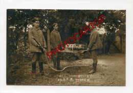 LANCE-FLAMMES Francais-FLAMMENWERFER-Carte Photo Allemande-Guerre14-18-1WK-Militaria-Technique-Armement-France- - Guerre 1914-18