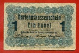 GERMANY OCCUPATION OF LITHUANIA WWl POSEN 1 RUBEL 1916 P R122 W726 - WWI