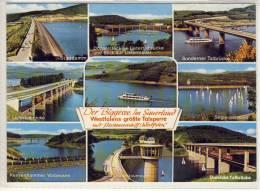Personenschiffahrt BIGGESEE, NRW Größte Talsperre, Dam, Barrage, Diga, OLPE-SONDERN;  Eisenbahnbrücke Listertal, SHIP - Unclassified