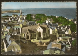 CARANTEC Rare Vue Aérienne De L'Eglise (Lapie) Finistère (29) - Carantec