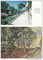 CPM Saint Rémy De Provence (13) Jardin, Hospice Saint Paul De Mausole / Lieu Peint Par Van Gogh 1889 / Photo Et Tableau - Saint-Remy-de-Provence