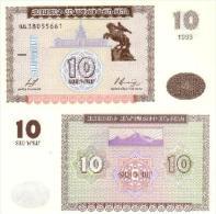 Billet ARMENIE De 10 Dram Pick 33. - Arménie