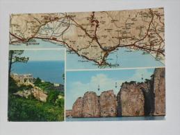 LATINA - Gaeta - Santuario Della Montagna Spaccata - Carta Geografica - Map - Latina