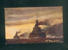 Bateau Guerre - The Navy Speaks ( Marine Anglaise Raphael Tuck Oilette Britain's Glory Our Dreadnoughts 8739) - Guerra
