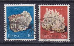 Kenya 1977 Mi. 96-97     10 C & 20 C Mineralien Minerals Selenit & Trona - Kenia (1963-...)