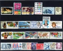 Stati Uniti/8 - N. 25 Francobolli Differenti Usati - Collezioni & Lotti